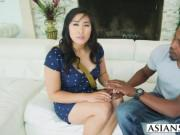 Black guy banging hot Asian chick