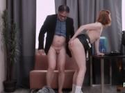 Innocent schoolgirl is tempted and drilled by her senio