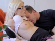 Nerdy Teen Alice Has Her Pussy Licked By Her Tutor
