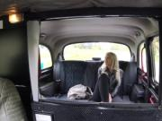 Fake taxi driver bangs blonde after she had sex