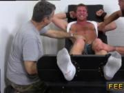 Gay hairy foot master Connor Maguire Tickled Naked