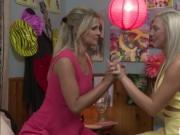 Tiffany and Scarlet having a romantic lesbian sex