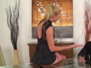 Blonde Babe Ivana Sugar Fucking Long Rod Blowjob