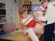 Cheerleader Rhiannon Ryder fucked hard