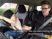 Rina Ellis getting her tight cunt fucked by a driving i