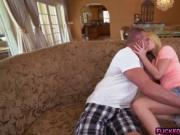 Naughty Bailey Brooke got pounded on a couch