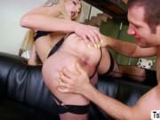 Horny Transbabe Eva loves hard anal fuck with Spencers