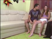 Teen babe experiences old cock