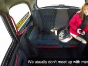 Euro amateur bangs big cock in fake taxi