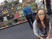 Amateur wife sex College Student Banged in my pawn shop