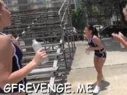 Thrashing teens poon tang