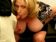 Amateur big tit mom Cheryl takes a facial