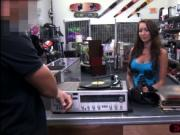 Voluptuous and wet rocker sells her vinyl and gets bang
