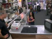 Brunette begs for cum Fucking a Cuban woman for her TV