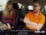 Blonde Whore Madison Stuart Blows Driving Instructor
