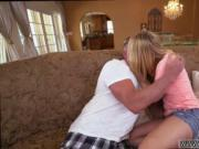 Mom and friend's teen Bailey Brooke's Home Alone