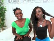 Horny ebony babes Naomi Gamble and Molleuex Au Chocolat