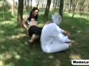 Erica Venus fucking her adult stepson in diapers with a
