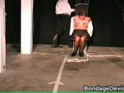 Arms & blowjob Stockaded 2 by bondagedevicevideos