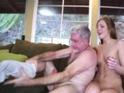 Daddy banging Molly Mansons pussy doggystyle