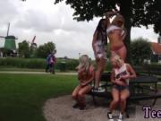 Lesbian kissing legs A super-naughty boat trip