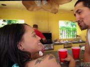 Big mother and boss's teen gift for daddy Holly Hendrix