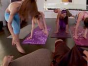 Girl teen girls Hot Sneaky Yoga
