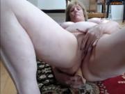 Intense anal masturbation grandma Linda