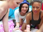 Teen girls fucked by camping counselor