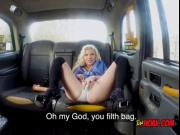 Blondie Barbie Sins Gets Fingered By Taxi Driver