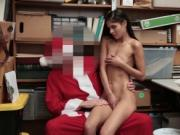 Katya Rodriguez receive a doggy fuck from Santa