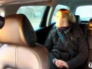 Taxi driver fucks horny customer anal