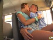 Very tight teen schoolgirl pounded by school bus driver
