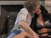 Sexy big titted milf Veronica Avluv sucks cock and scre