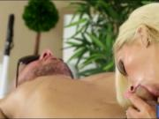 Big titted blonde masseuse Nina Elle fucked by her clie