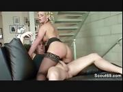 HOT MILF Seduce to Fuck by Young Boy and Facial