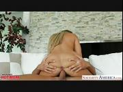 Busty blonde mom Amber Lynn Bach fucking a large dick