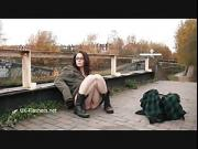 University coed Beauvoirs naughty flashing and public masturbation of geeky brunette in outdoor voyuerism