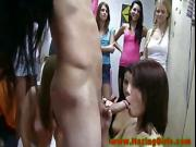 Lesbian college teen amateur sucks dick for her initiation