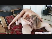 Busty girlfriend Alexis Adams fuck a large dick