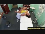 Medical voyeur fun with a sexy euro babe