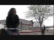 Disgraceful Faes flashing and public nudity of brunette amateur babe masturbating outdoors and giving voyeur peeks of her open pussy