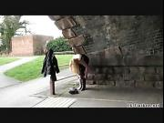 Blonde babes public masturbation and outdoor pussy flashing of sexy amateur chick in daring exhibitionism