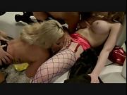 Joker gets his dick sucked by three gorgeous babes