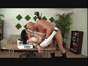 brunette shemale fuck by her boss