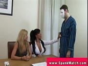 CFNM ladies inspecting cocks