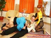 CFNM glamour slut gets drilled hard by their stud