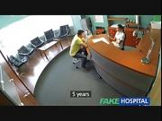 Sexy nurse heals patient with hard office sex