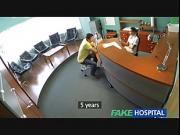 Sexy nurse heals patient with hard office sex