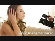 Latina teen turns casting shoot into hot threesome